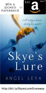 Win a signed copy of Skye's Lure, a YA Fantasy Adventure for lovers of The Little Mermaid, or a $20 Amazon Gift Card, hosted by the Giveaway Guy | www.AngeLeya.com
