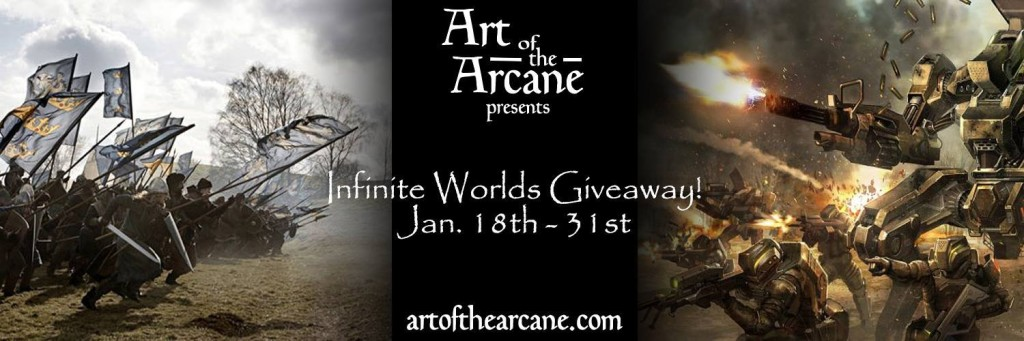 Art of Arcane Infinite Worlds sci-fi and fantasy giveaway on Instafreebie | www.AngeLeya.com