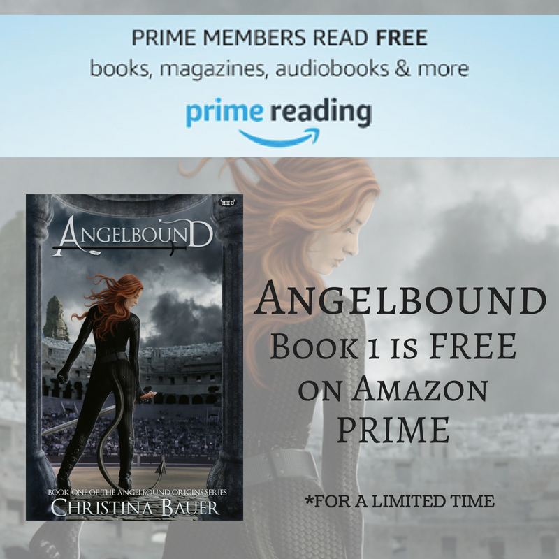 ANGELBOUND FREE ON AMAZON PRIME d by Christina Bauer | Tour organized by YA Bound | www.angeleya.com