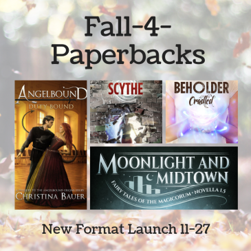 Fantasy & Sci-Fi Paperback Releases from @CB_Bauer
