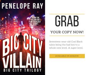 Teaser 3: Big City Villain by Penelope Ray | Tour organized by YA Bound | www.angeleya.com
