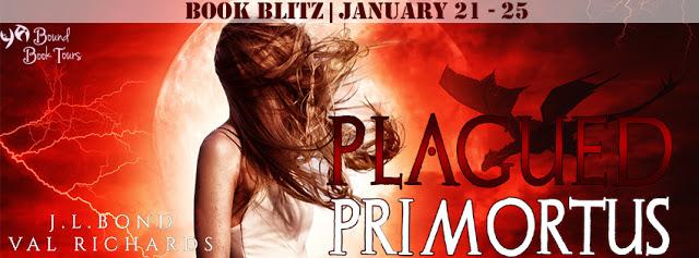 Book Blitz: Plagued Primortus by Val Richards and J.L. Bond | Tour organized by YA Bound | www.angeleya.com