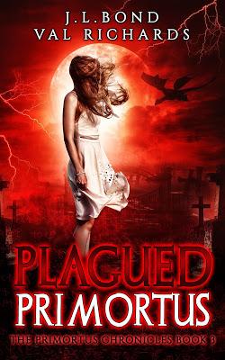 Plagued Primortus by Val Richards and J.L. Bond | Tour organized by YA Bound | www.angeleya.com