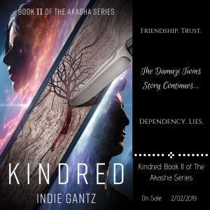 Promo Image for Kindred by Indie Gantz   Tour organized by YA Bound   www.angeleya.com