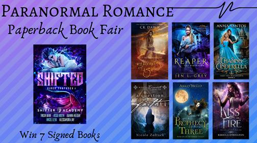 Paranormal Romance Paperback Book Fair Giveaway | www.angeleya.com