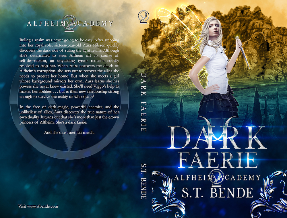 Full cover: Dark Faerie by S.T. Bende   Tour organized by Xpresso Book Tours   www.angeleya.com
